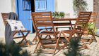 FSC Wooden Patio Set 4 Seater, Wilko, was £120, now £80